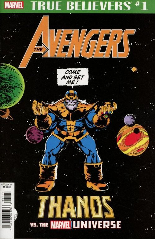TRUE BELIEVERS AVENGERS THANOS VS MARVEL UNIVERSE#1 + 1 Adet Yerli Karton ve Poşet