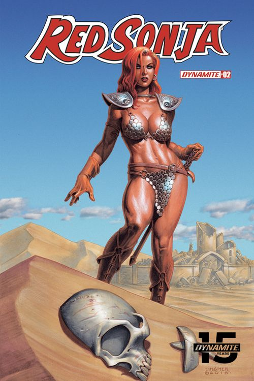 RED SONJA #2 COVER B LINSNER