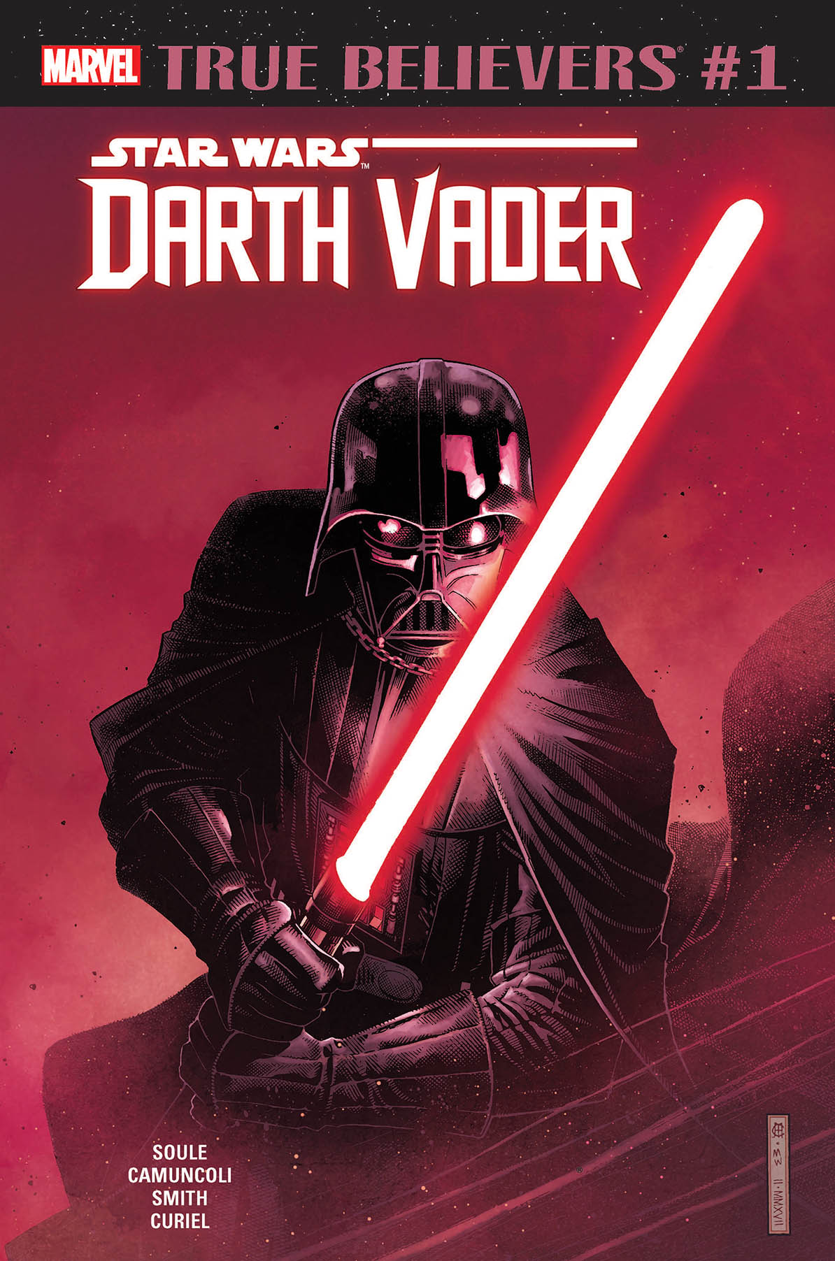 TRUE BELIEVERS STAR WARS DARTH VADER #1 + 1 Adet Yerli Karton ve Poşet