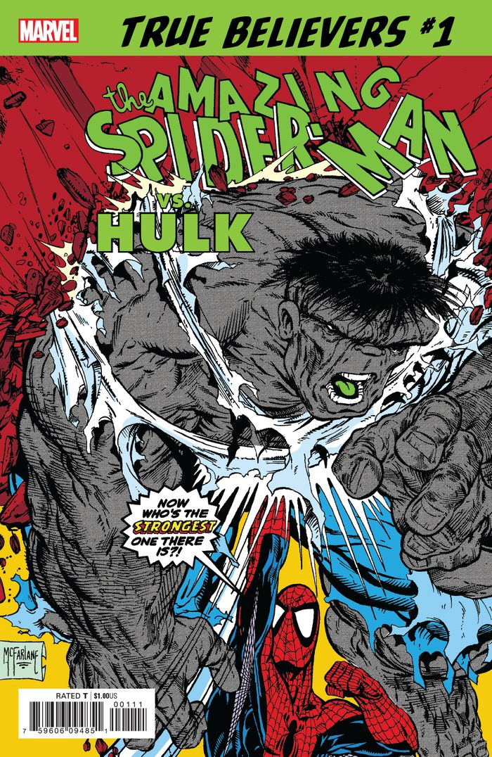 TRUE BELIEVERS SPIDER MAN VS HULK #1 + 1 Adet Yerli Karton ve Poşet