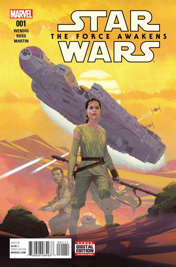 STAR WARS THE FORCE AWAKENS #1 - #4 SET