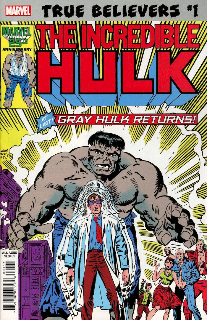 TRUE BELIEVERS HULK GRAY HULK RETURNS #1 + 1 Adet Yerli Karton ve Poşet