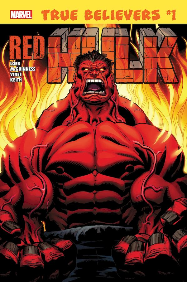 TRUE BELIEVERS HULK RED HULK #1 + 1 Adet Yerli Karton ve Poşet