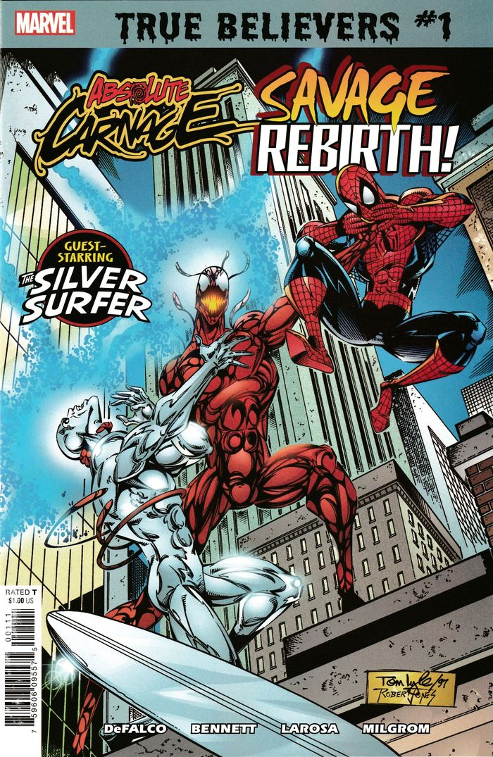 TRUE BELIEVERS ABSOLUTE CARNAGE SAVAGE REBIRTH #1 + 1 Adet Yerli Karton ve Poşet