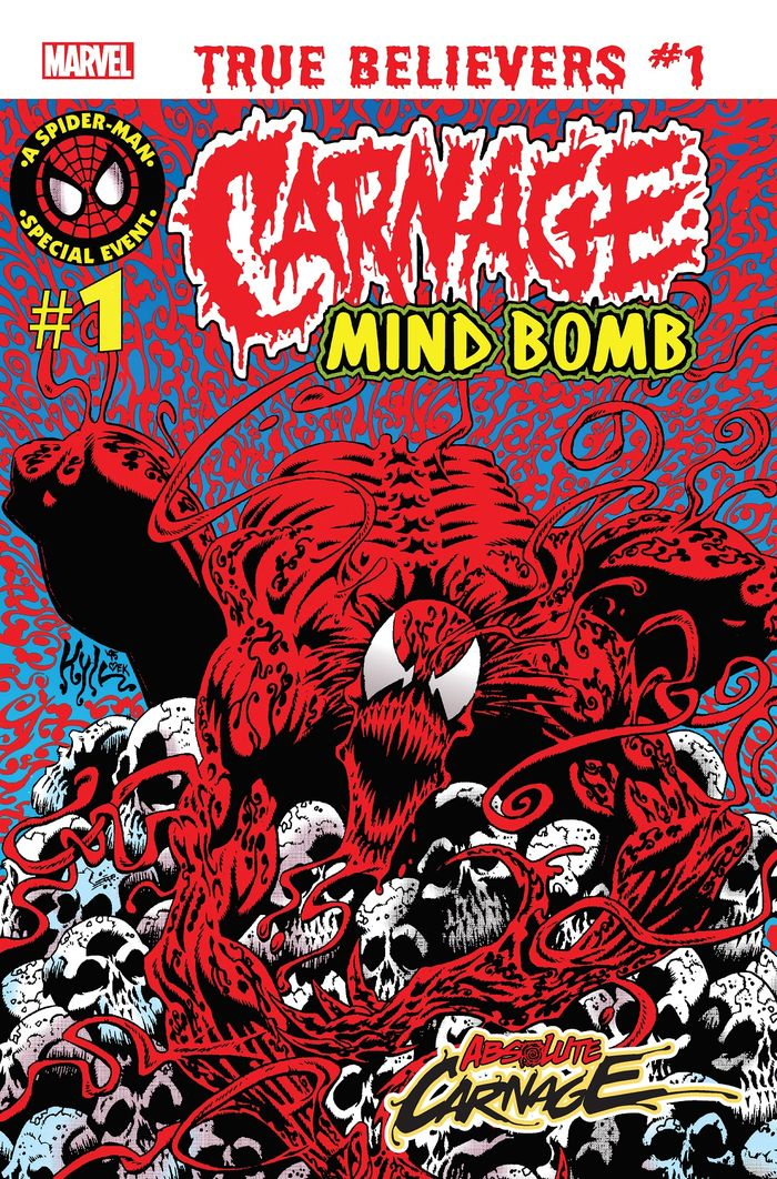 TRUE BELIEVERS ABSOLUTE CARNAGE MIND BOMB #1 + 1 Adet Yerli Karton ve Poşet