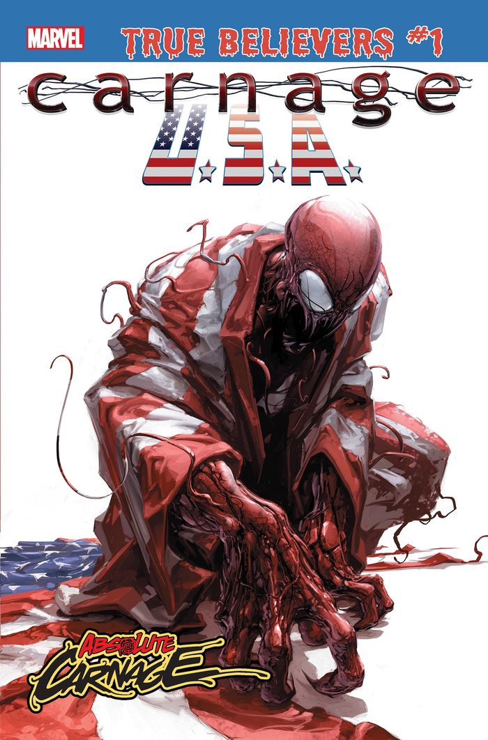 TRUE BELIEVERS ABSOLUTE CARNAGE CARNAGE USA #1 + 1 Adet Yerli Karton ve Poşet