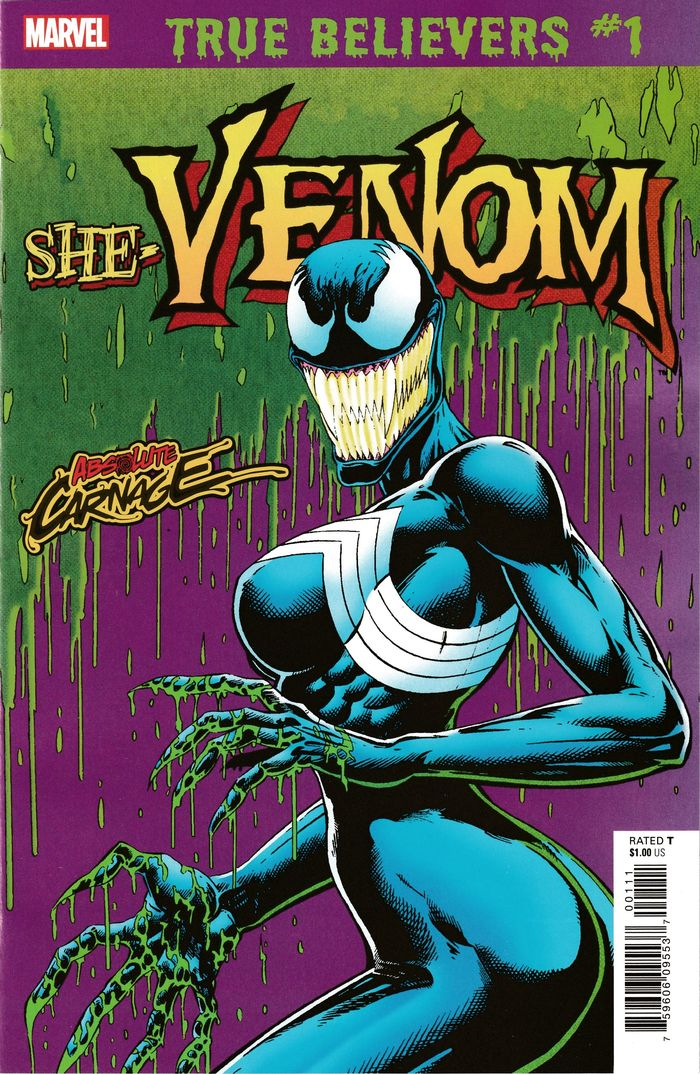 TRUE BELIEVERS ABSOLUTE CARNAGE SHE-VENOM #1 + 1 Adet Yerli Karton ve Poşet
