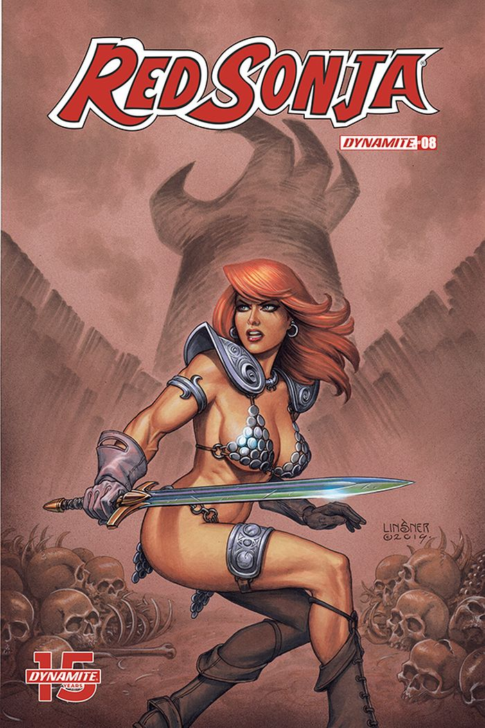 RED SONJA #8 COVER B LINSNER