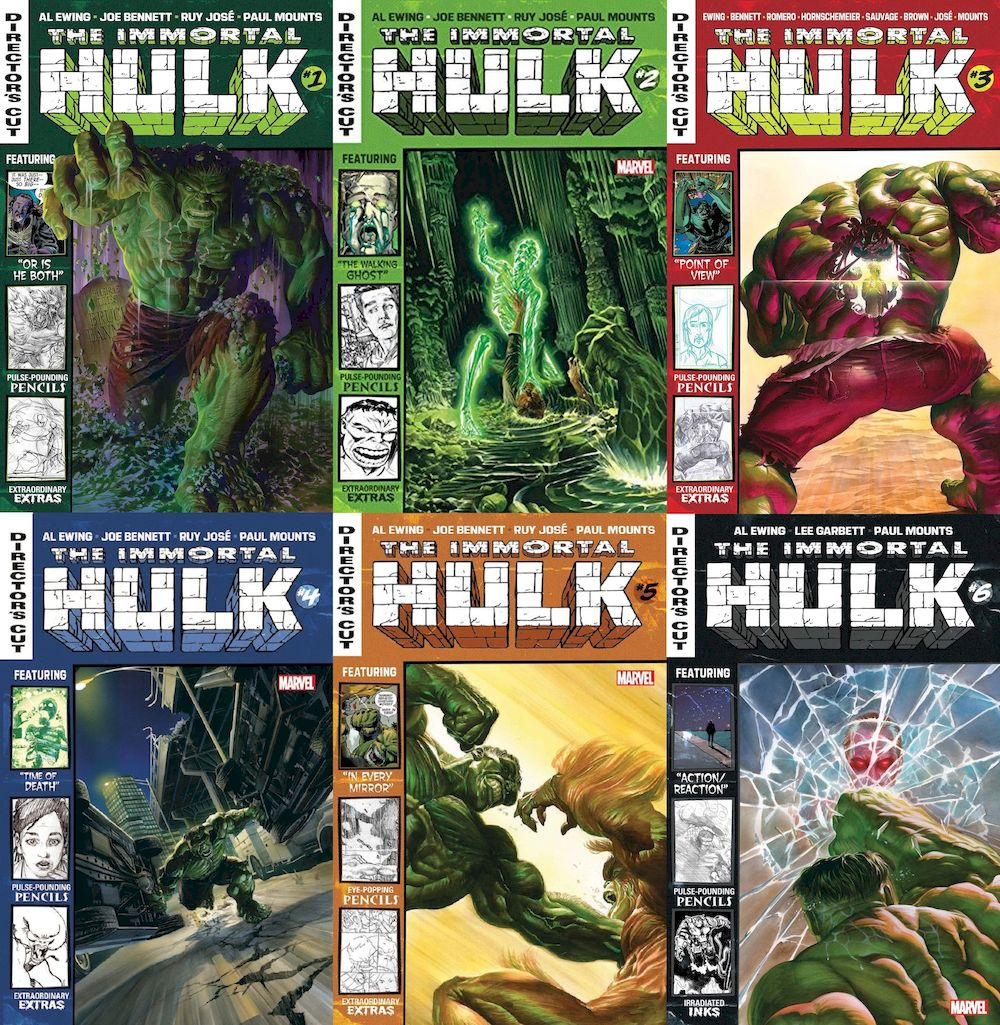 IMMORTAL HULK DIRECTORS CUT #1 - #6 (OF 6) SET