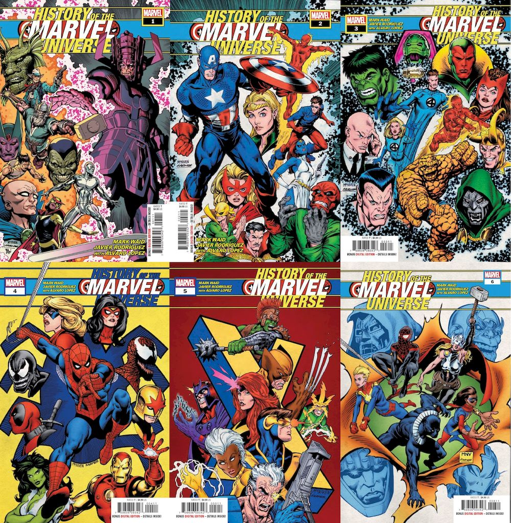 HISTORY OF MARVEL UNIVERSE #1 - #6 (OF 6) SET