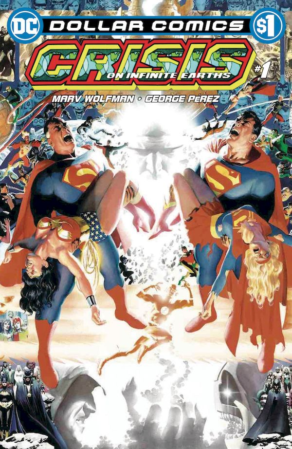 DOLLAR COMICS CRISIS ON INFINITE EARTHS #1 + 1 Adet Yerli Karton ve Poşet
