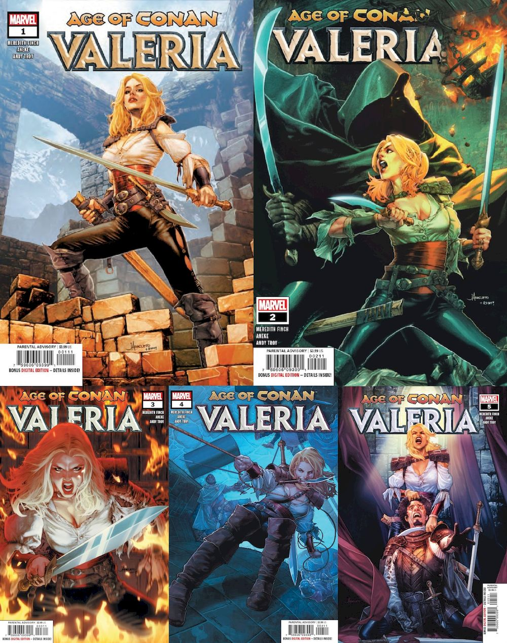 AGE OF CONAN VALERIA #1 - #5 (OF 5) SET