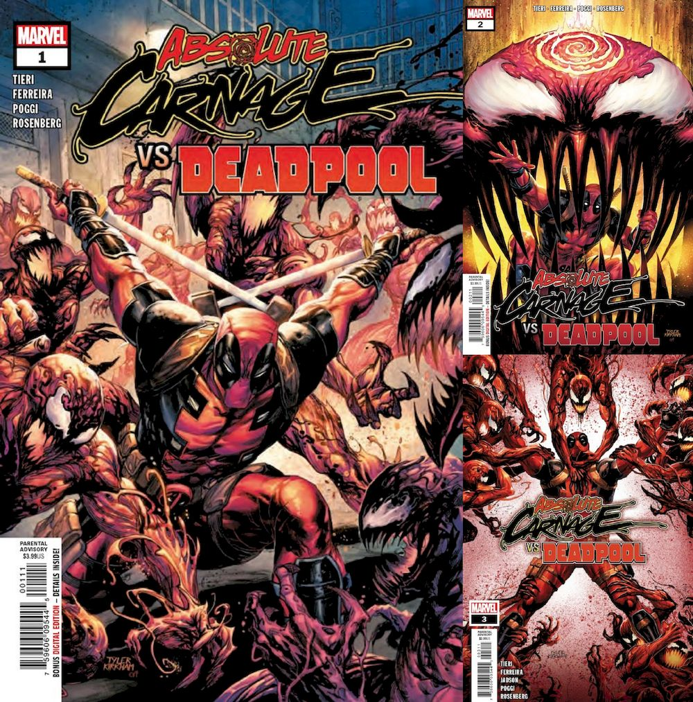 ABSOLUTE CARNAGE VS DEADPOOL #1 - #3 (OF 3) SET