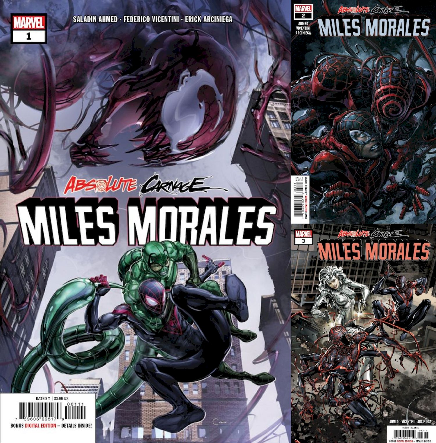 ABSOLUTE CARNAGE MILES MORALES #1 - #3 (OF 3) SET