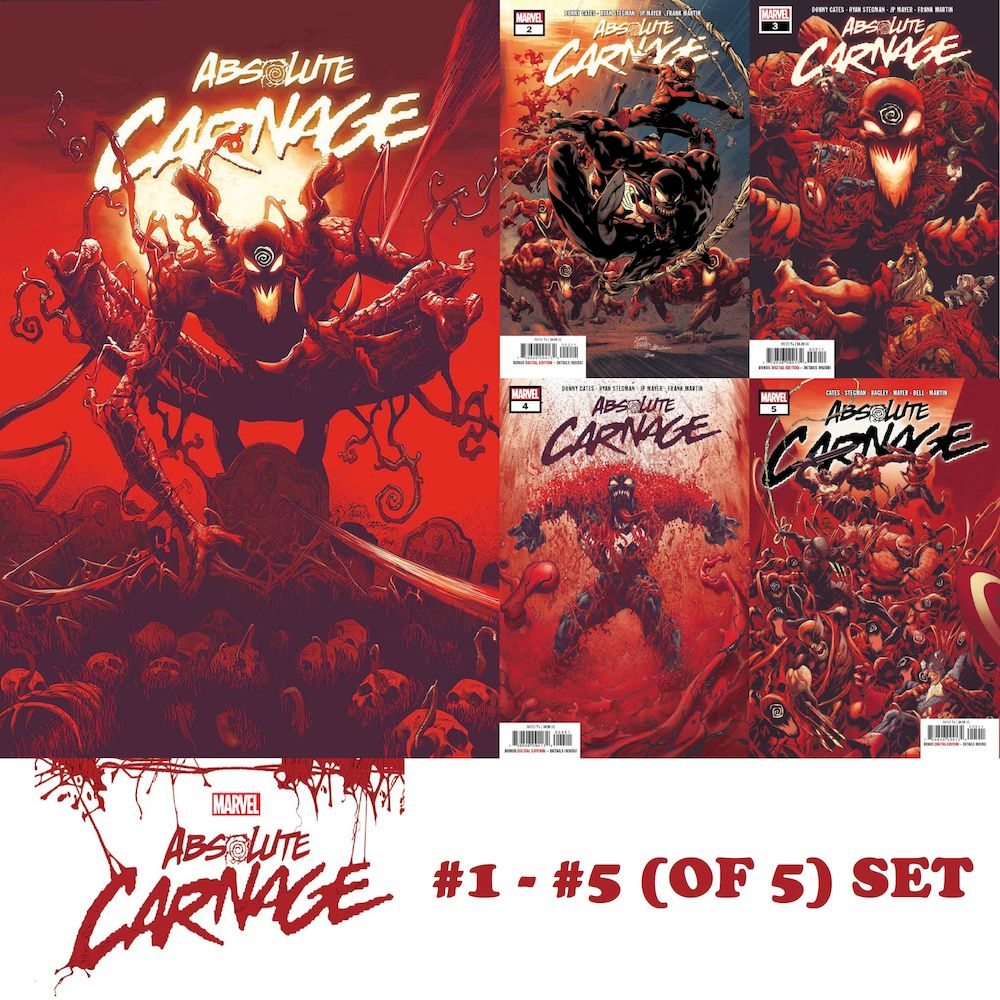ABSOLUTE CARNAGE #1 - #5 (OF 5) SET
