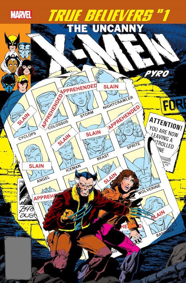 TRUE BELIEVERS X-MEN PYRO #1 + 1 Adet Yerli Karton ve Poşet