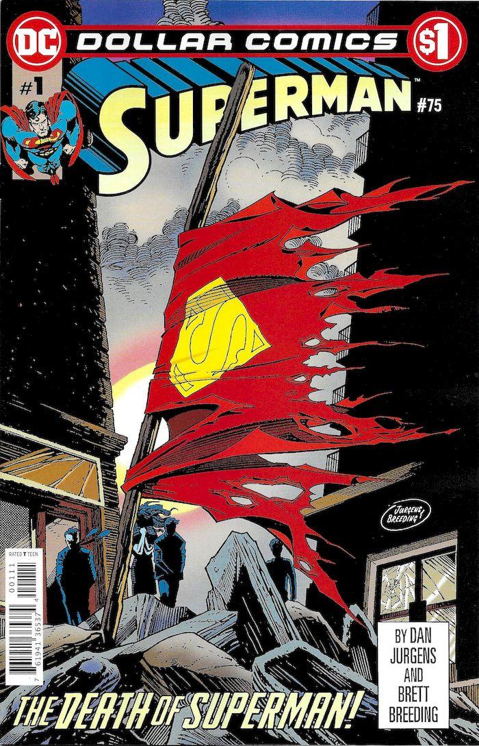 DOLLAR COMICS SUPERMAN #75 + 1 Adet Yerli Karton ve Poşet