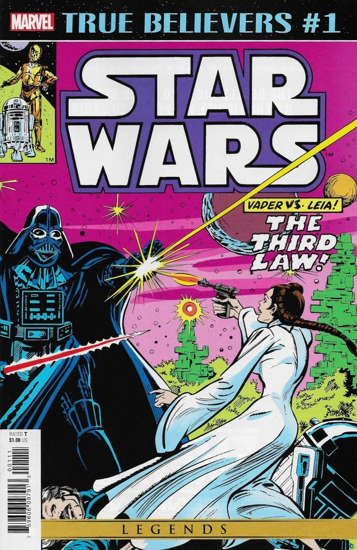 TRUE BELIEVERS STAR WARS VADER VS LEIA #1 + 1 Adet Yerli Karton ve Poşet
