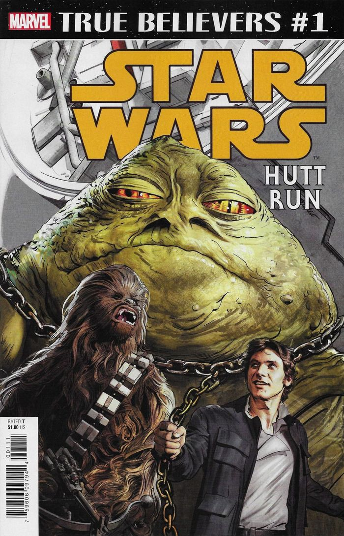 TRUE BELIEVERS STAR WARS HUTT RUN #1 + 1 Adet Yerli Karton ve Poşet