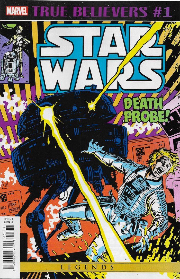 TRUE BELIEVERS STAR WARS DEATH PROBE #1 + 1 Adet Yerli Karton ve Poşet