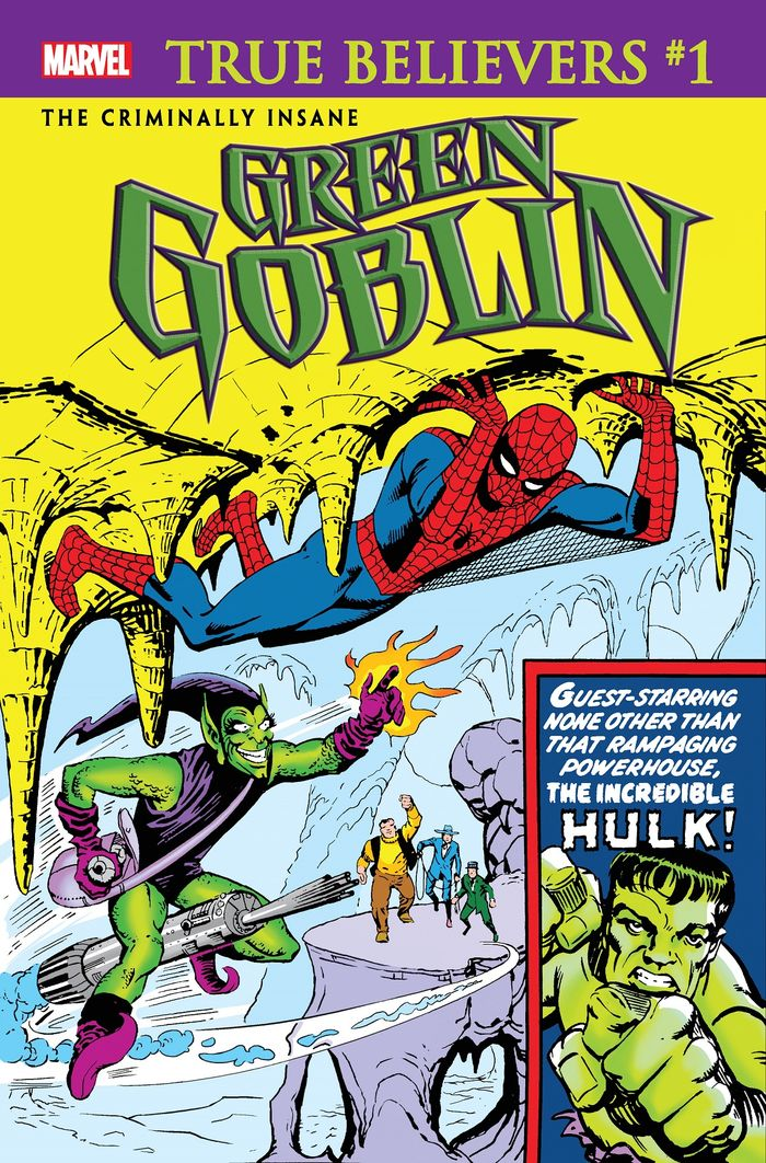 TRUE BELIEVERS CRIMINALLY INSANE GREEN GOBLIN #1 + 1 Adet Yerli Karton ve Poşet