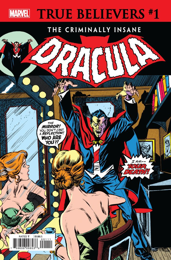 TRUE BELIEVERS CRIMINALLY INSANE DRACULA #1 + 1 Adet Yerli Karton ve Poşet