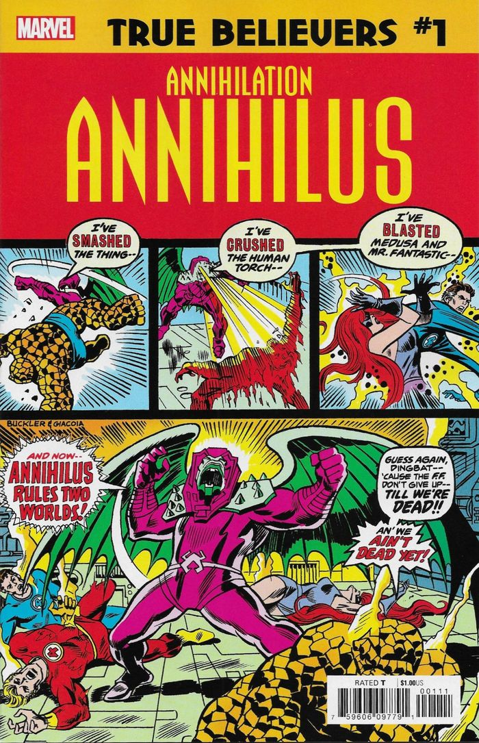 TRUE BELIEVERS ANNIHILATION ANNIHILUS #1 + 1 Adet Yerli Karton ve Poşet