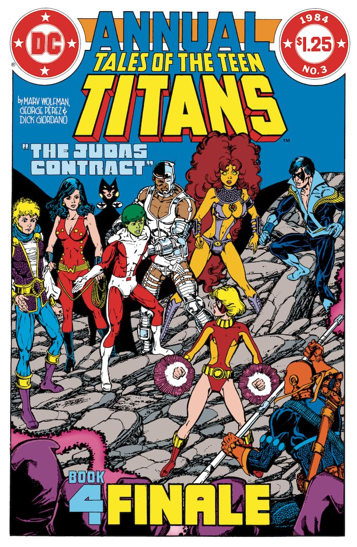 DOLLAR COMICS TALES OF THE TEEN TITANS ANNUAL #3 + 1 Adet Yerli Karton ve Poşet