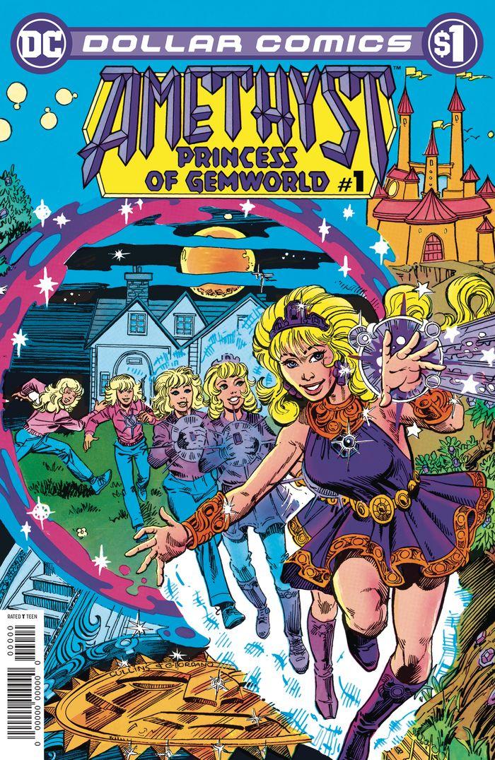 DOLLAR COMICS AMETHYST 1985 #1 + 1 Adet Yerli Karton ve Poşet