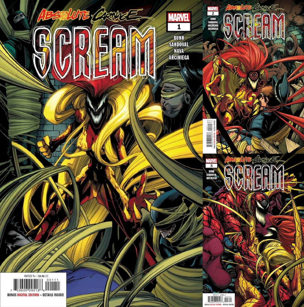 ABSOLUTE CARNAGE SCREAM #1 - #3 (OF 3) SET