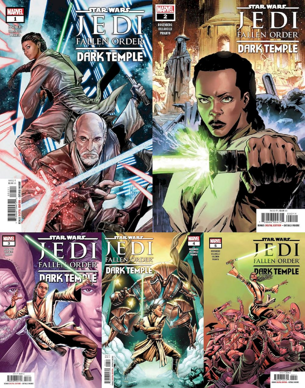 STAR WARS JEDI FALLEN ORDER DARK TEMPLE #1 - #5 (OF 5) SET
