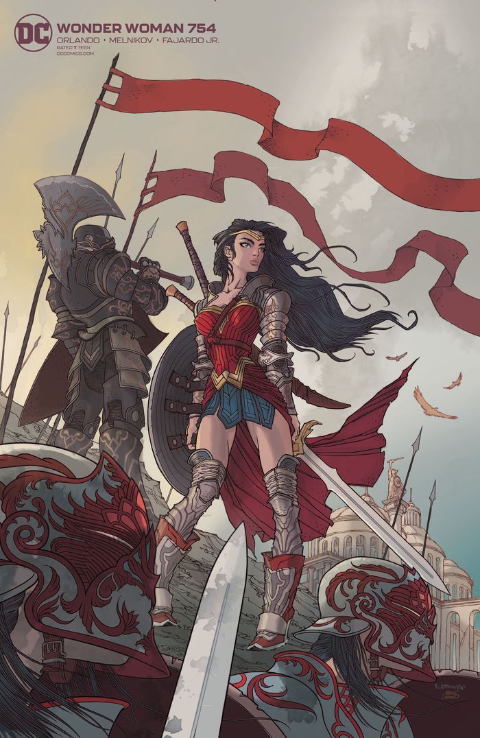 WONDER WOMAN #754 CARD STOCK RAFAEL GRAMPA VARIANT