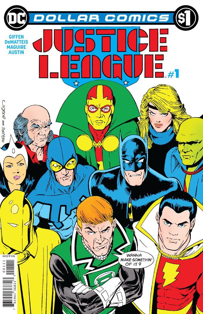 DOLLAR COMICS JUSTICE LEAGUE #1 1987 + 1 Adet Yerli Karton ve Poşet