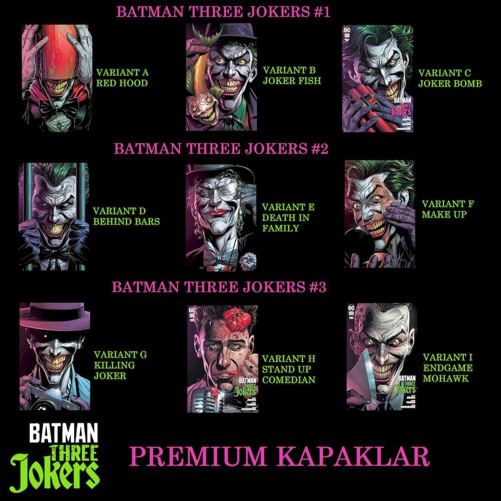 BATMAN THREE JOKERS #1 - #3 PREMIUM KAPAK ABONELİK KAPORA ÖDEMESİ