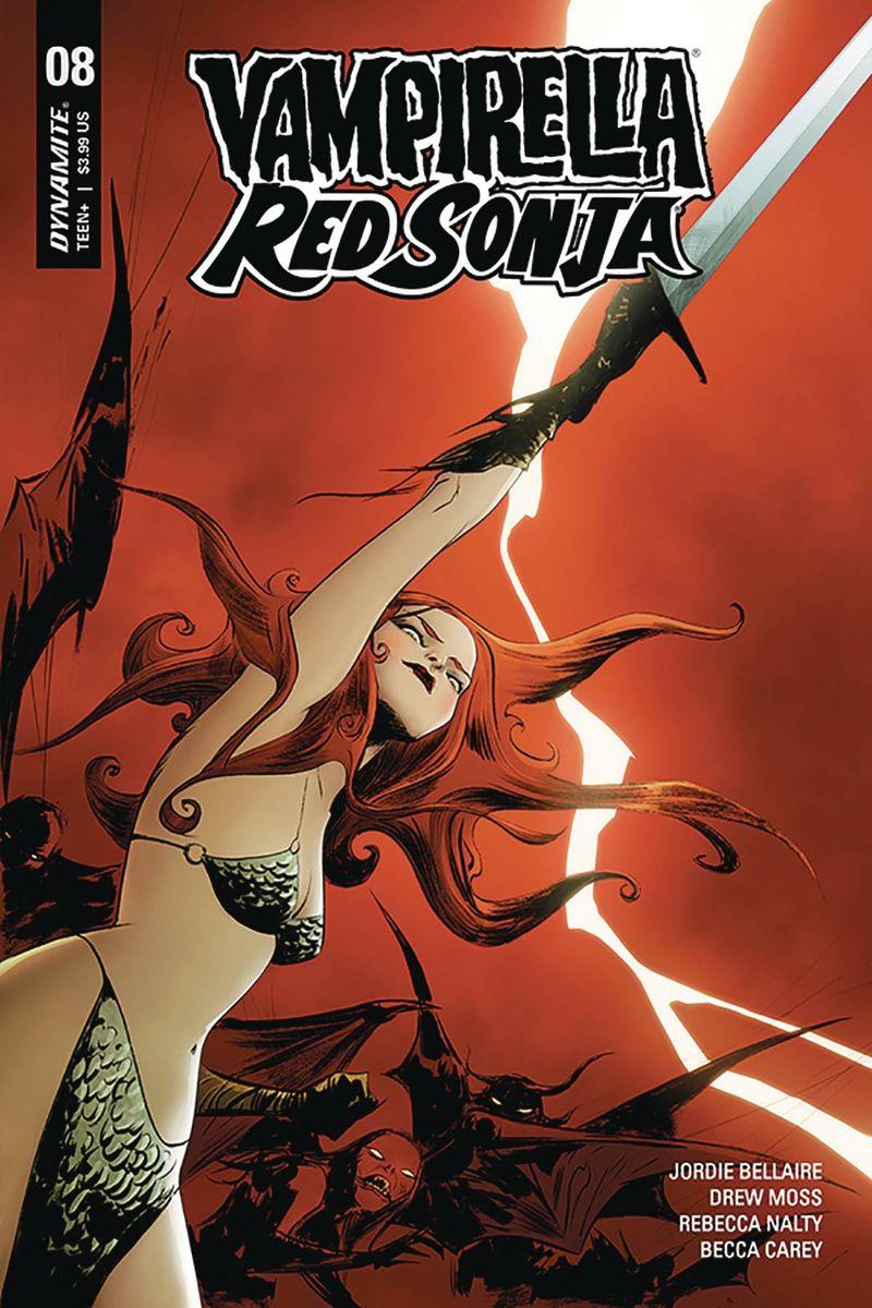 VAMPIRELLA RED SONJA #8 COVER A LEE