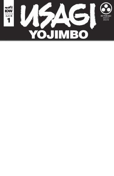 Usagi Yojimbo Sayı 1 (Boş Kapak)