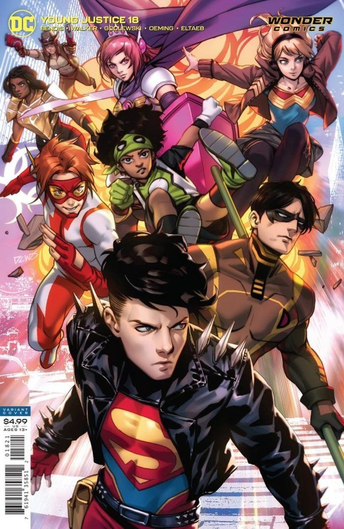 YOUNG JUSTICE #18 COVER B DERRICK CHEW CARD STOCK VARIANT