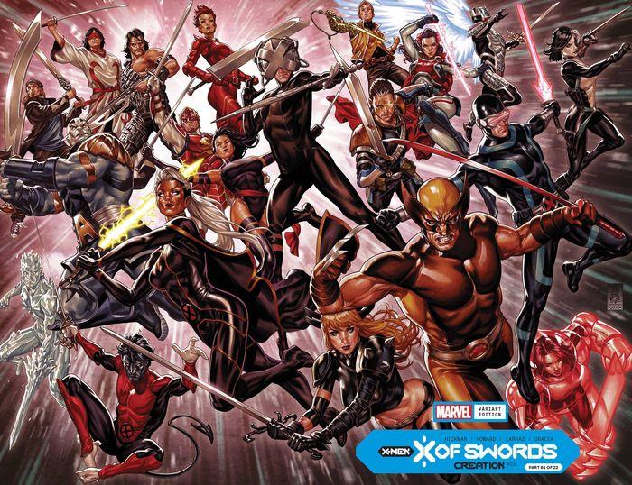 X OF SWORDS CREATION #1 BROOKS WRPAD VARIANT