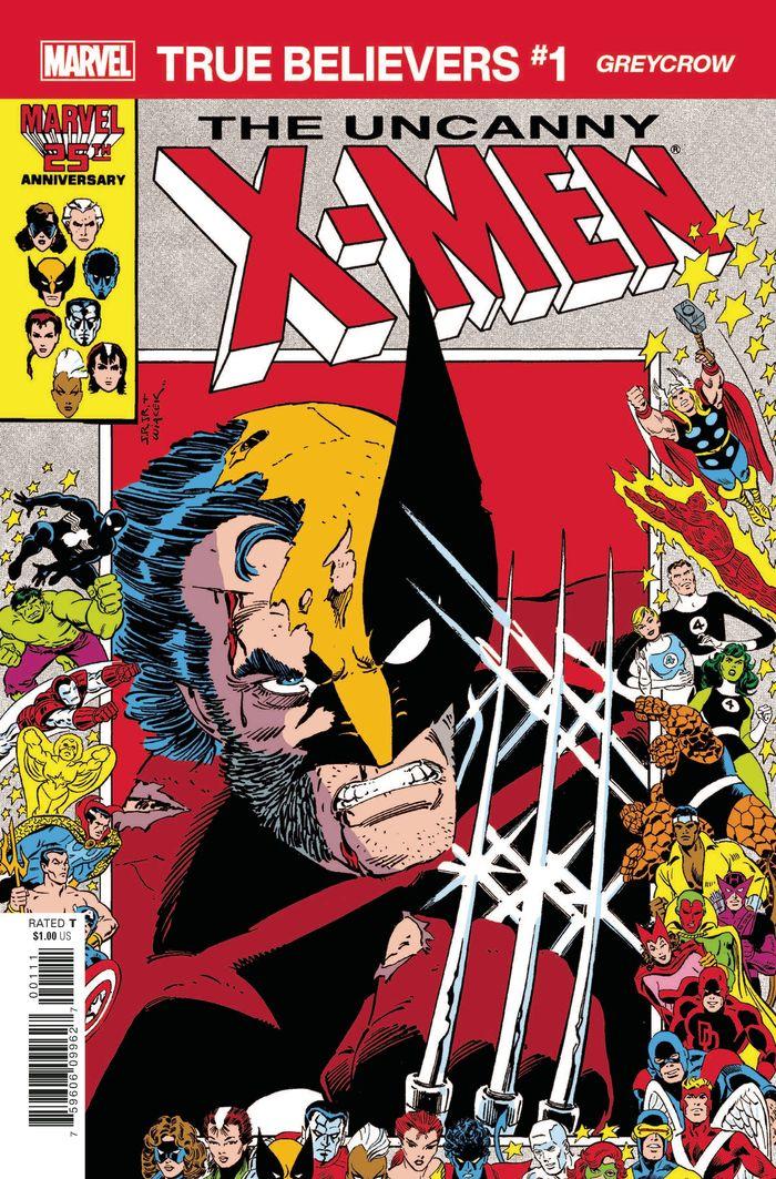 TRUE BELIEVERS X-MEN GREYCROW #1 + 1 Adet Yerli Karton ve Poşet