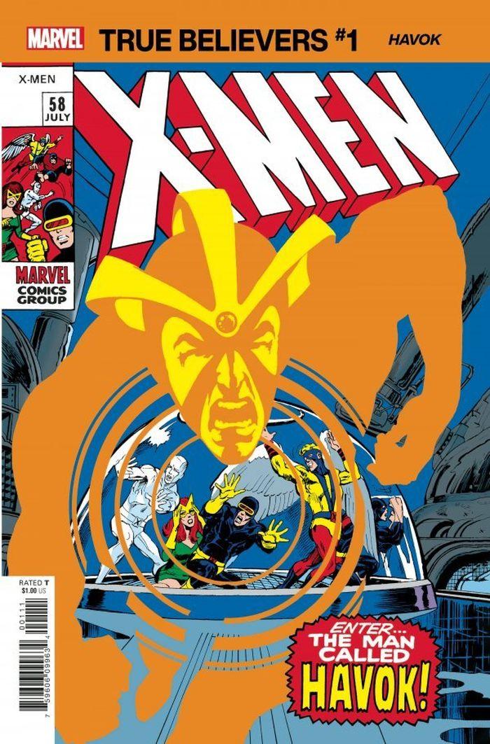 TRUE BELIEVERS X-MEN HAVOK #1 + 1 Adet Yerli Karton ve Poşet