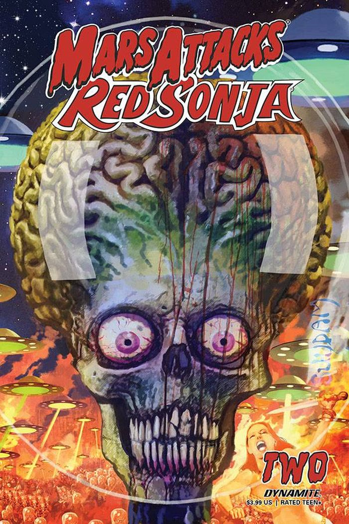MARS ATTACKS RED SONJA #2 COVER B SUYDAM