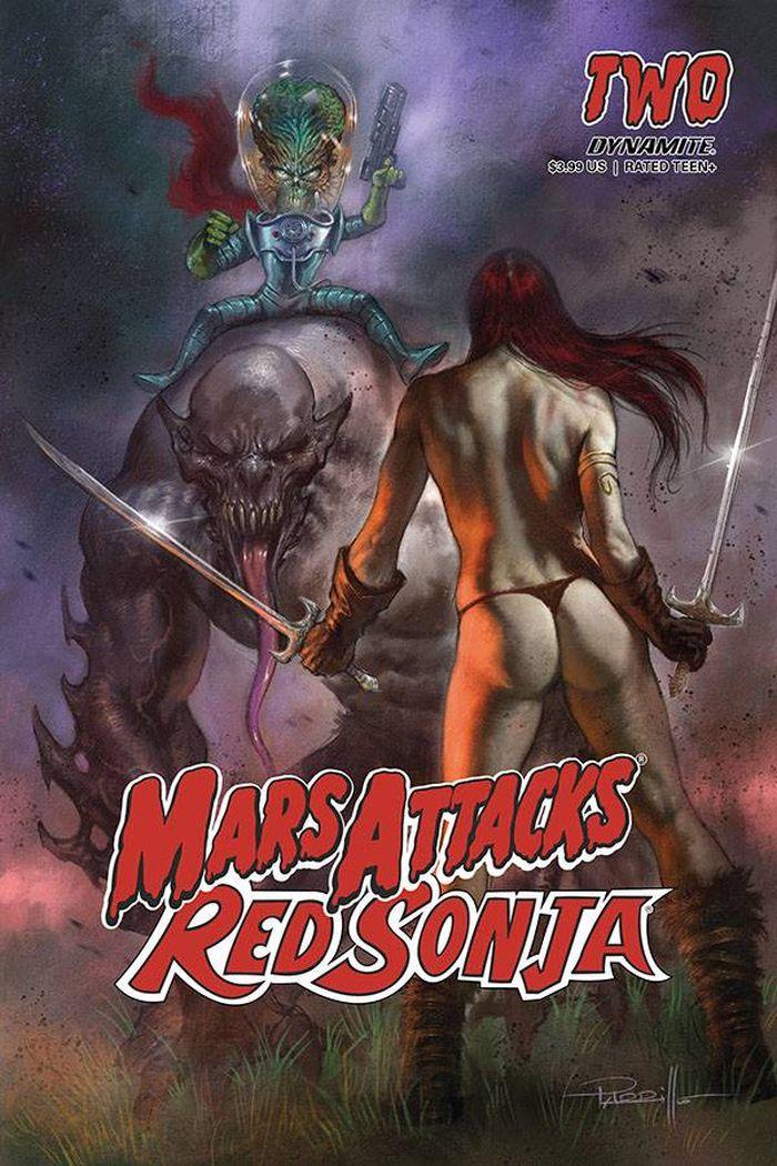 MARS ATTACKS RED SONJA #2 COVER A PARRILLO