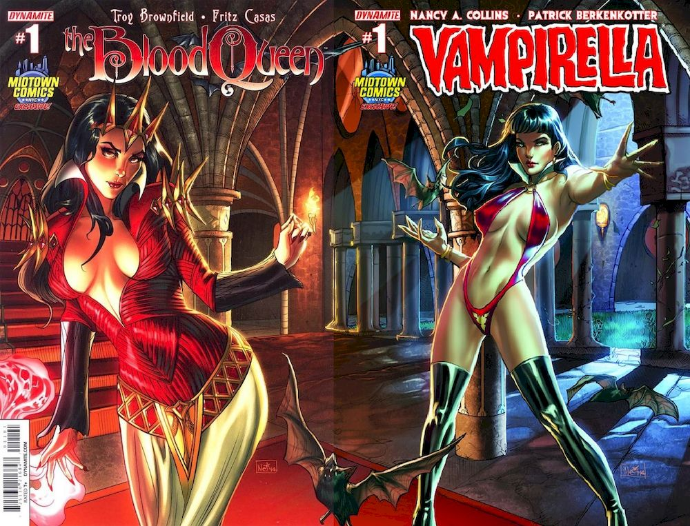 DF BLOOD QUEEN #1 - DF NEW VAMPIRELLA #1 MIDTOWN EXC RUFFINO CONNECTING VARIANT