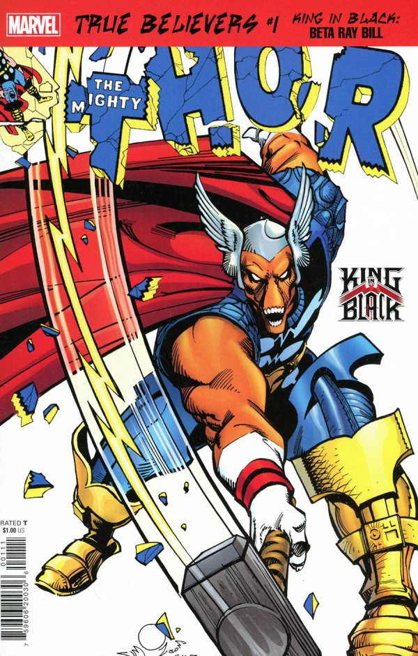 TRUE BELIEVERS KING IN BLACK BETA RAY BILL #1 + 1 Adet Yerli Karton ve Poşet