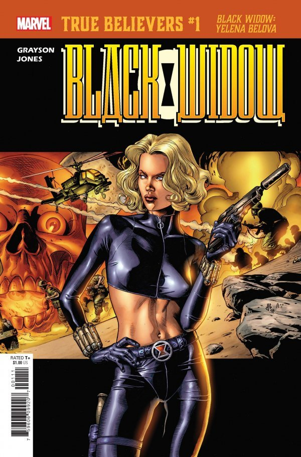 TRUE BELIEVERS BLACK WIDOW YELENA BELOVA #1 + 1 Adet Yerli Karton ve Poşet