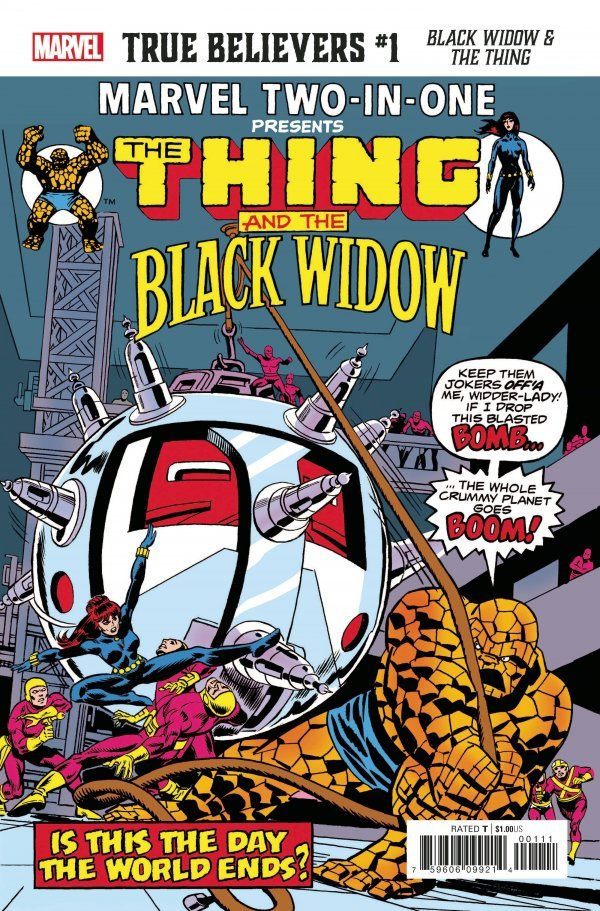 TRUE BELIEVERS BLACK WIDOW & THE THING #1 + 1 Adet Yerli Karton ve Poşet