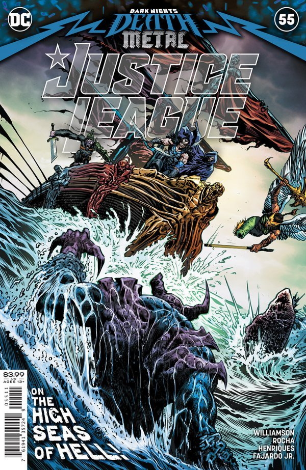 JUSTICE LEAGUE #55 COVER A LIAM SHARP DARK NIGHTS DEATH METAL