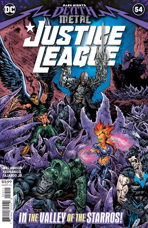 JUSTICE LEAGUE #54 COVER A LIAM SHARP DARK NIGHTS DEATH METAL