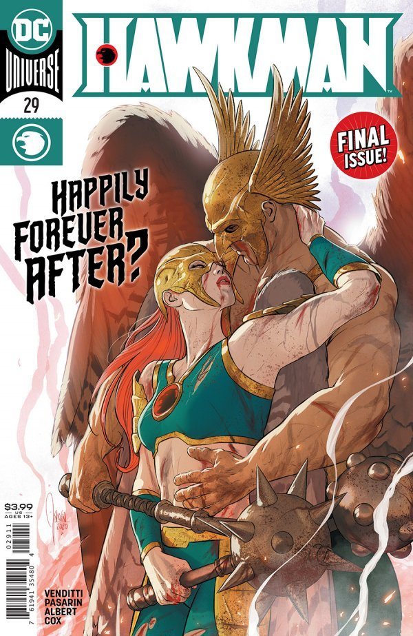 HAWKMAN #29 COVER A MIKEL JANIN