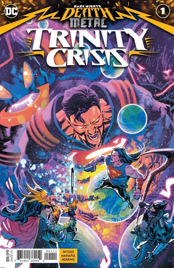 DARK NIGHTS DEATH METAL TRINITY CRISIS #1 COVER A FRANCIS MANAPUL